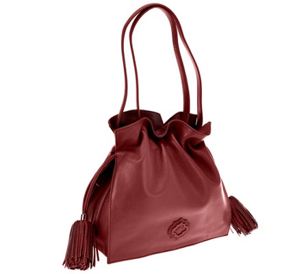 orYANY Pebble Leather Drawstring Crossbody Bag - Jamie