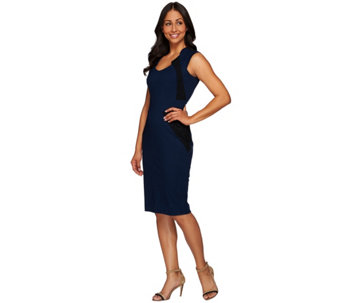 G.I.L.I. Petite Sleeveless Dress with Lace Insets - A273276