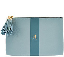 G.I.L.I. Pebble Leather Monogram Pouch - A276576