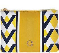 C. Wonder Graphic Geo Stripe Print Zip Top Pouch - A277976