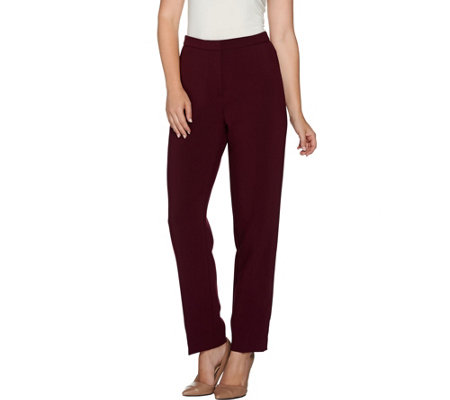 Susan Graver City Stretch Front Zip Pants