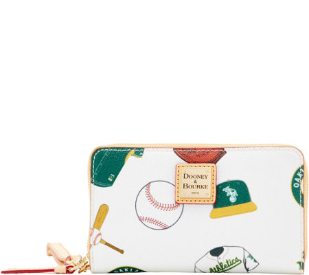 Dooney & Bourke MLB Athletics Zip Around Phone Wristlet