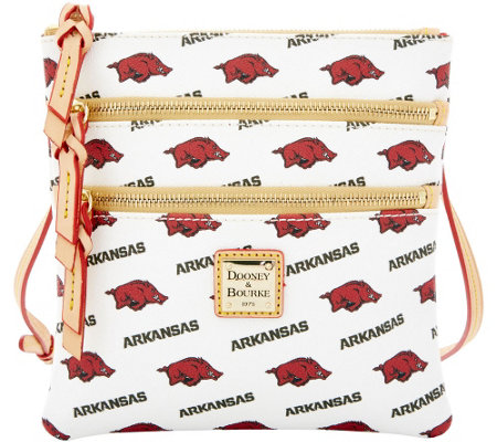 Dooney & Bourke NCAA University of Arkansas Zip Crossbody