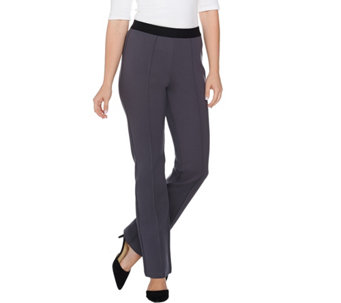 Studio by Denim & Co. Slightly Bootcut Ponte Pull-on Pants - A283676