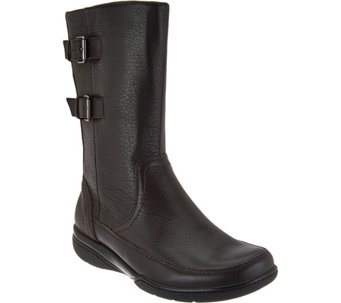 Clarks Leather Waterproof Mid Calf Boots - Kearns Rain - A283776