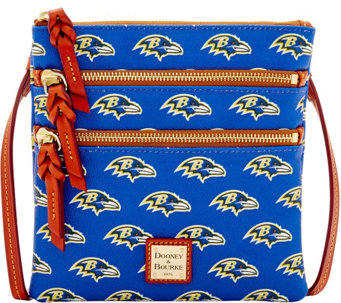 Dooney & Bourke NFL Ravens Triple Zip Crossbody - A285676