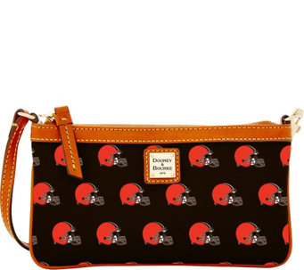 Dooney & Bourke NFL Browns Large Slim Wristlet - A285776