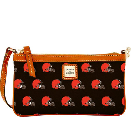 Dooney & Bourke NFL Browns Large Slim Wristlet