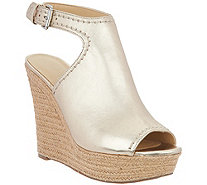 Marc Fisher Leather or Suede Espadrille Wedges - Harli - A287476