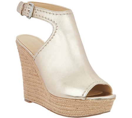 Marc Fisher Leather or Suede Espadrille Wedges - Harli