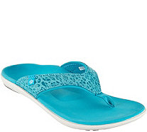 Spenco Orthotic Thong Sandals - Yumi Cheeta Print - A288076