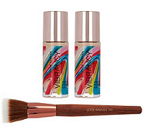 Josie Maran Super-size Vibrancy Foundation with Brush - A288376