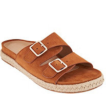 Vionic Orthotic Suede Slip-On Espadrille Sandals - Gia - A293676