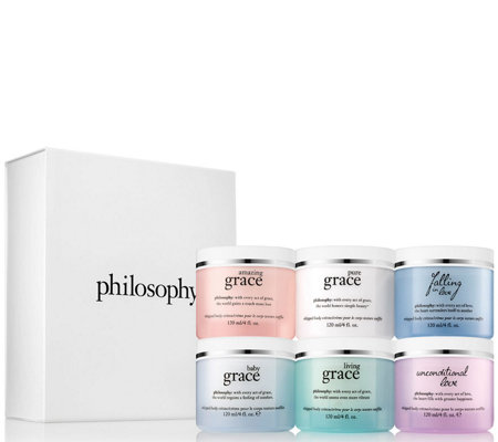 philosophy grace & love whipped body creme 4oz. 6pc collection
