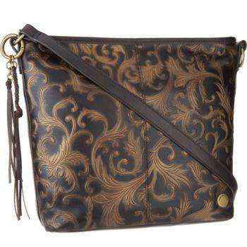 Tignanello Vintage Leather Hobo Convertible Crossbody