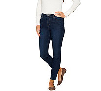 Kelly by Clinton Kelly Petite 5-Pocket Ankle Jeans - A297976
