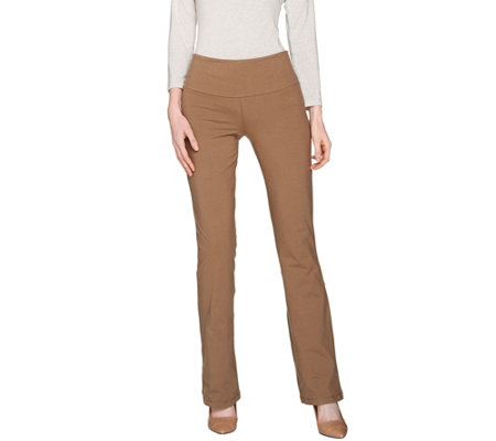 """As Is"" Women with Control Petite Tummy Control Low Bell Knit Pants"