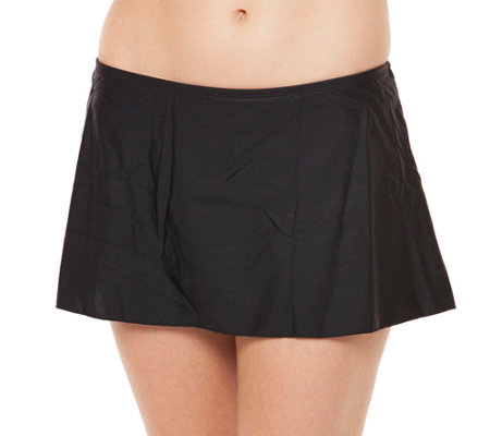 Simply Swim Solid A-Line Skirted Brief