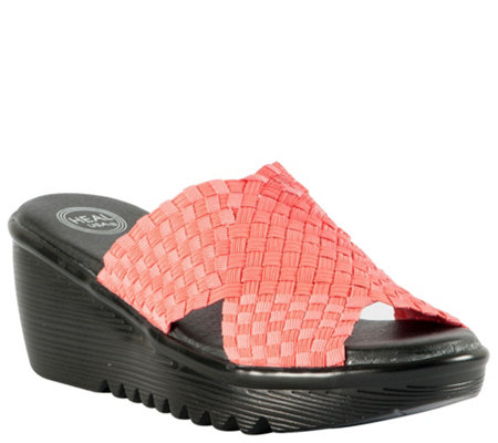 Heal Crossband Wedge Sandals - Ada