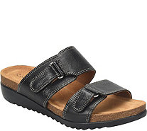 Comfortiva Leather Slide Sandals - Evita - A412676
