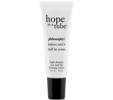 philosophy hope in a tube high density eye and lip cream, .5 oz.