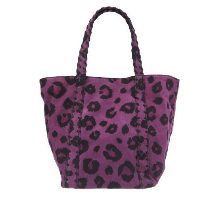 Kelsi Dagger Ryan Leopard Print Double Strap Shoulder Bag