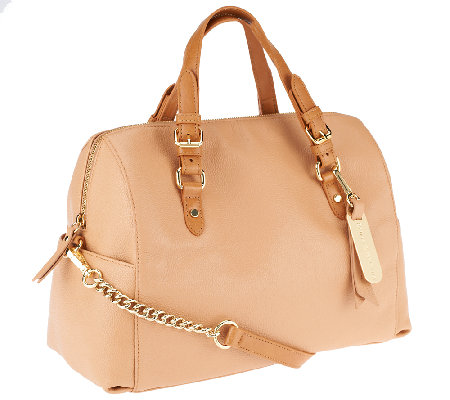 Emma & Sophia Pebble Leather Chelsea Satchel