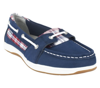 Ryka Orleans Leather & Fabric Boat Shoes - A252877