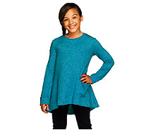 LOGO Littles by Lori Goldstein French Terry Top with Side Pocket - A255477