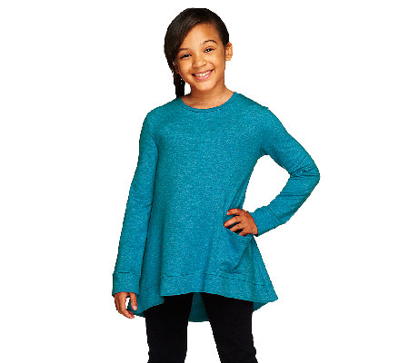 LOGO Littles by Lori Goldstein French Terry Top with Side Pocket