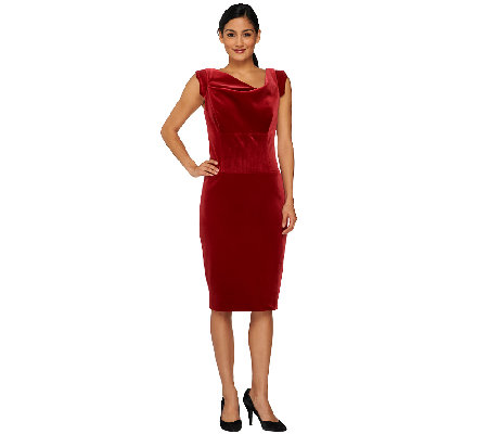 G.I.L.I. Petite Velvet Sheath Dress