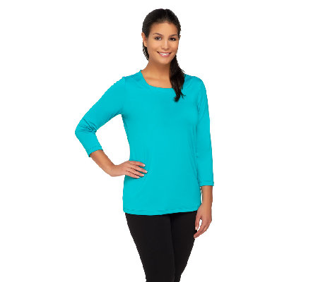 Susan Graver Essential Butterknit 3/4 Sleeve Top