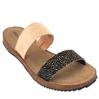 Adam Tucker Leather Double Strap Slide Sandals - Autumn