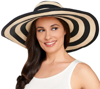 Denim & Co. Beach Stripe Hat - A265077