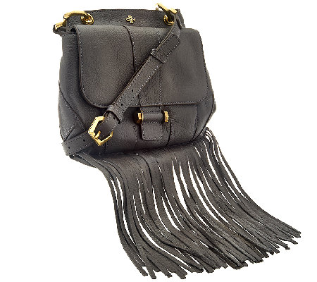 orYANY Italian Grain Leather Fringe Crossbody - Fannie