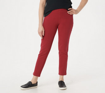 """As Is"" Denim & Co. ""How Comfy"" Slim Leg Ankle Pant w/ Roll Cuff - A269577"