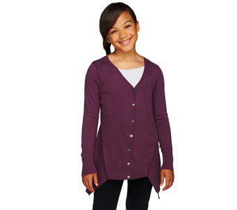 """As Is"" LOGO Littles by Lori Goldstein Cotton Cashmere Cardigan - A269877"