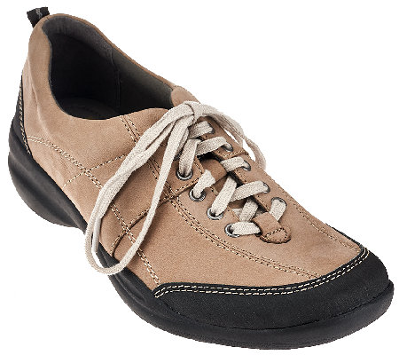 Clarks Nubuck Lace-up Sneakers - In.Motion Drive