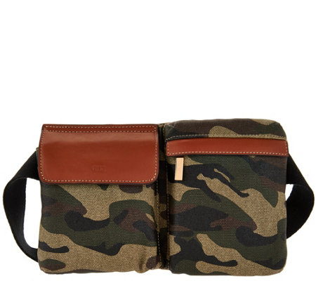 G.I.L.I. Canvas Fanny Pack with Leather Trim
