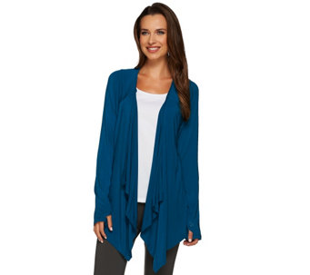 """As Is"" Cuddl Duds Softwear Stretch Long Sleeve Wrap Up - A278377"