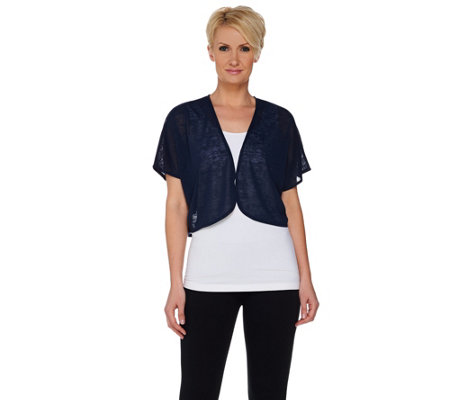 Kelly by Clinton Kelly Short Sleeve Cocoon Shrug