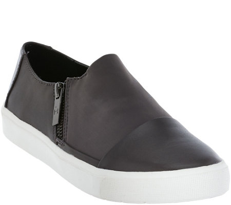 """As Is"" H by Halston Slip-on Sneaker with Zipper Detail - Emma"