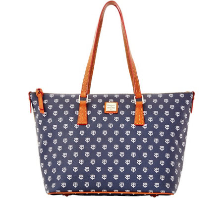 Dooney & Bourke MLB Twins Zip Top Shopper