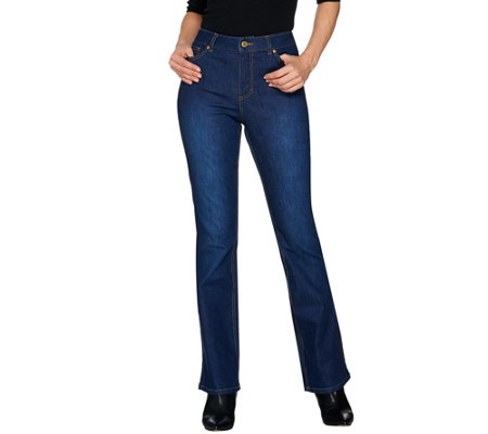 Isaac Mizrahi Live! Petite TRUE DENIM Boot Cut Jeans