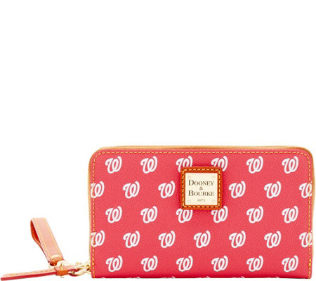 Dooney & Bourke MLB Nationals Zip Around Phone Wristlet