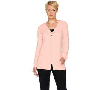 cee bee CHERYL BURKE French Terry Zip Up Jacket - A283077