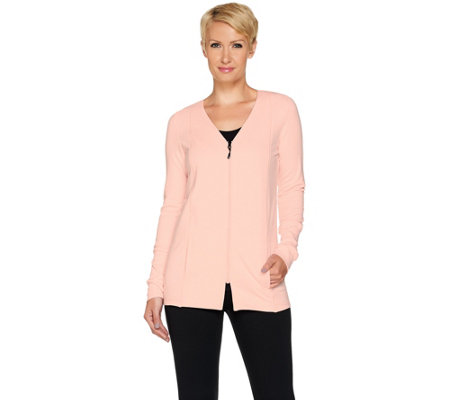 cee bee CHERYL BURKE French Terry Zip Up Jacket