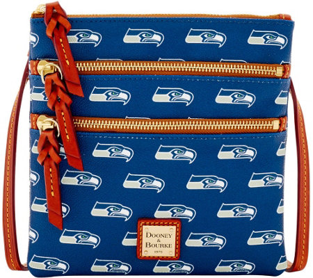 Dooney & Bourke NFL Seahawks Triple Zip Crossbody