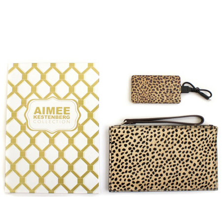 Aimee Kestenberg Pebble Leather Pouch w/ Charger