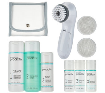 Proactiv 3pc Acne System with Brush & Travel Kit - A286477